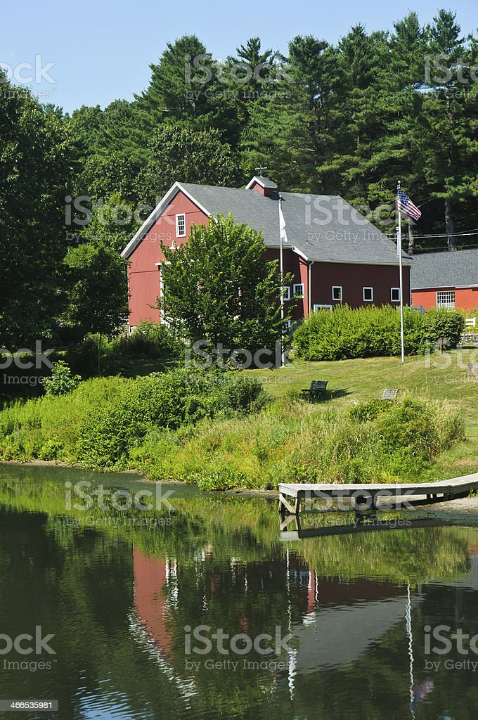 Reflections of River Bend Farm stock photo