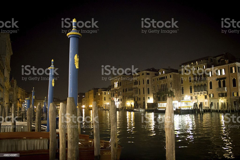 Reflections of the Grand Canal at Night royalty-free stock photo