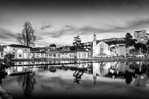 istock Reflections of the Pergola 1154880072