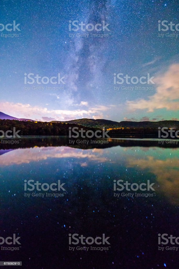 Reflections of the stars stock photo