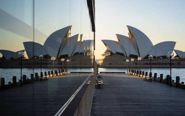 Reflections Of The Sydney Opera House stock photo