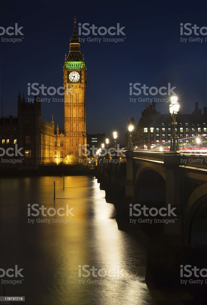 Reflections of Westminster royalty-free stock photo