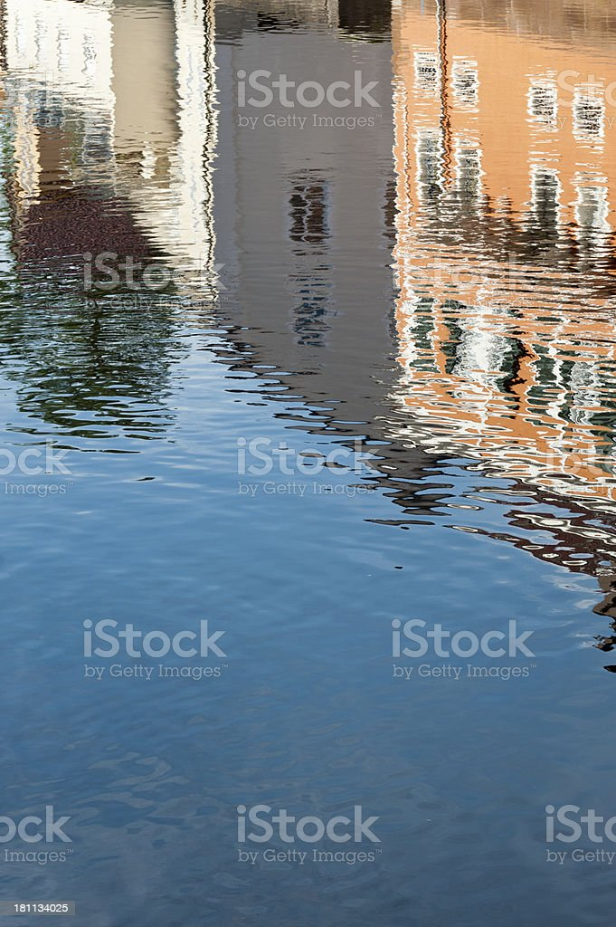 Reflections on a water surface stock photo