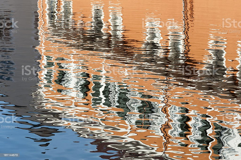 Reflections on a watersurface stock photo