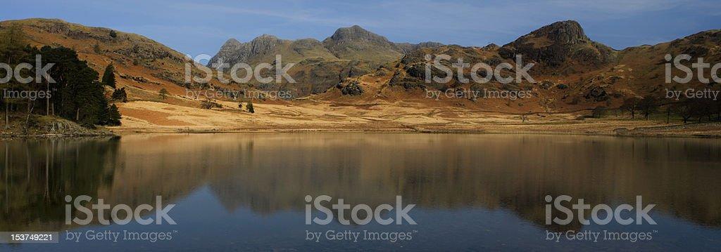 Reflections on Blea Tarn royalty-free stock photo