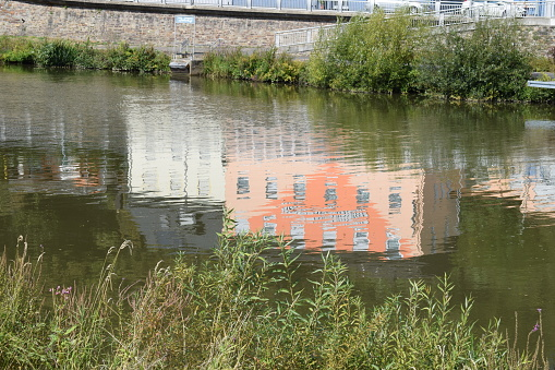 reflections on the water, Lahn, Dausenau