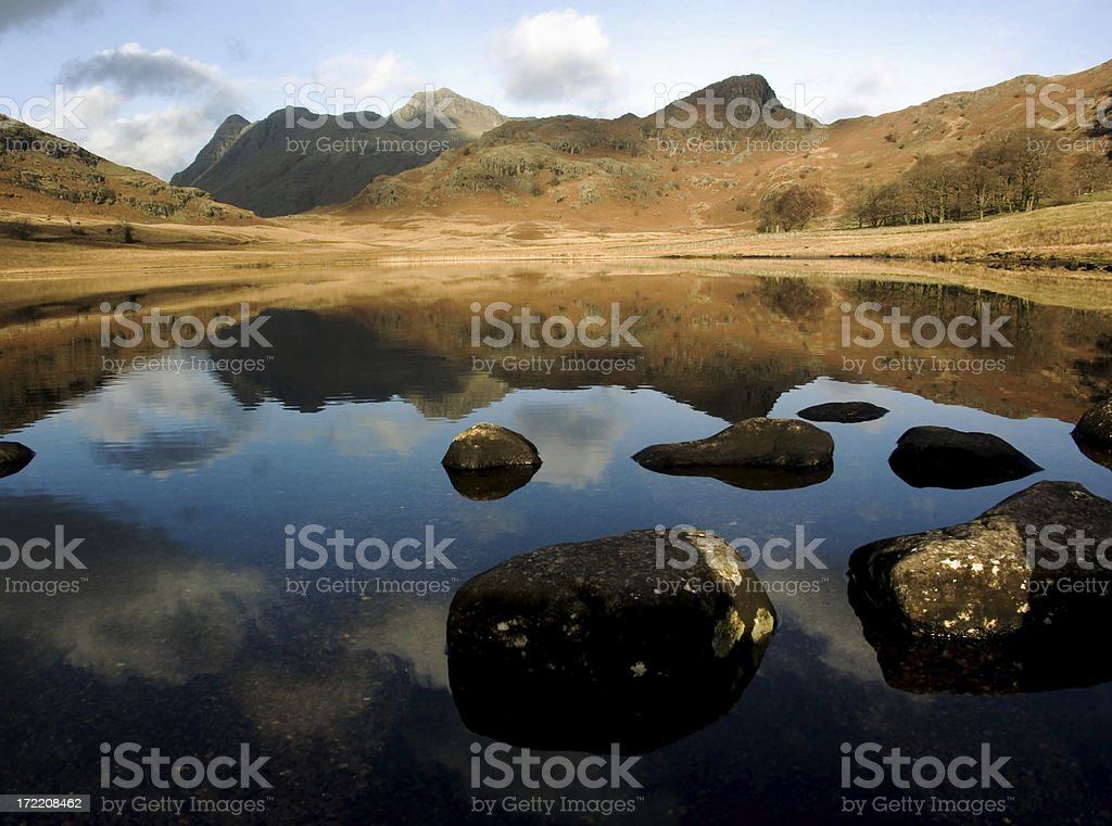 Reflections over the Tarn stock photo