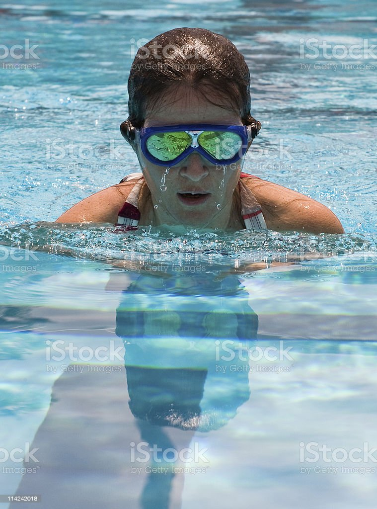 reflections while swimming royalty-free stock photo