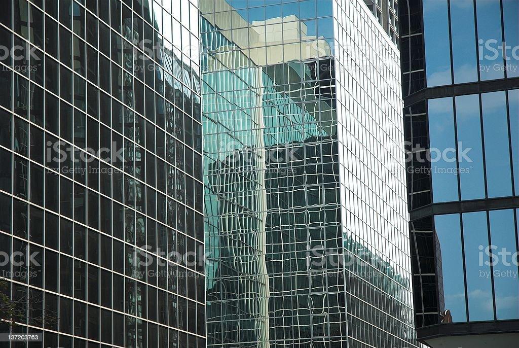 Reflective city stock photo