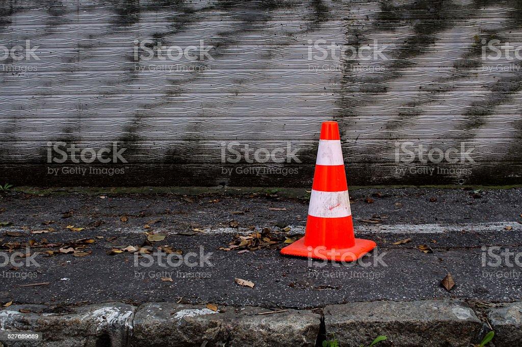 Reflective Cone stock photo