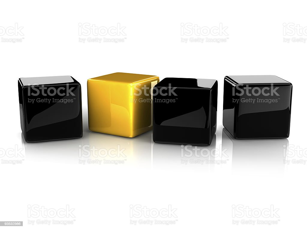 reflective cubes stock photo