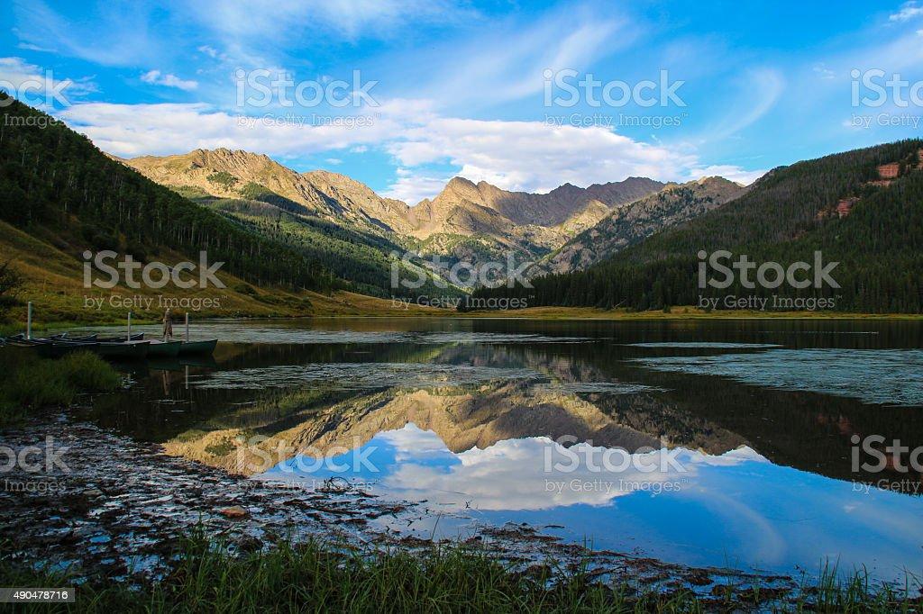 Reflective Lake stock photo