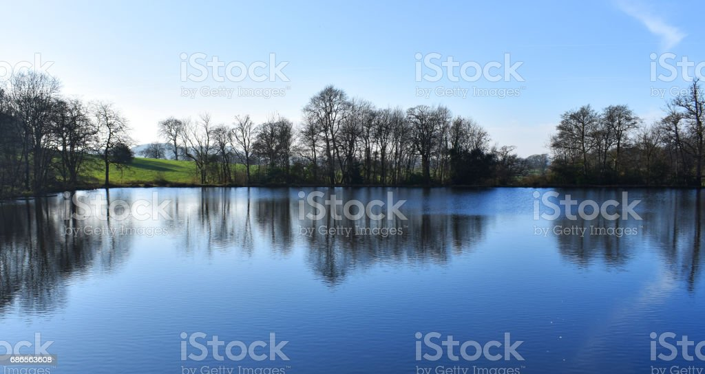 reflective lake royalty-free stock photo