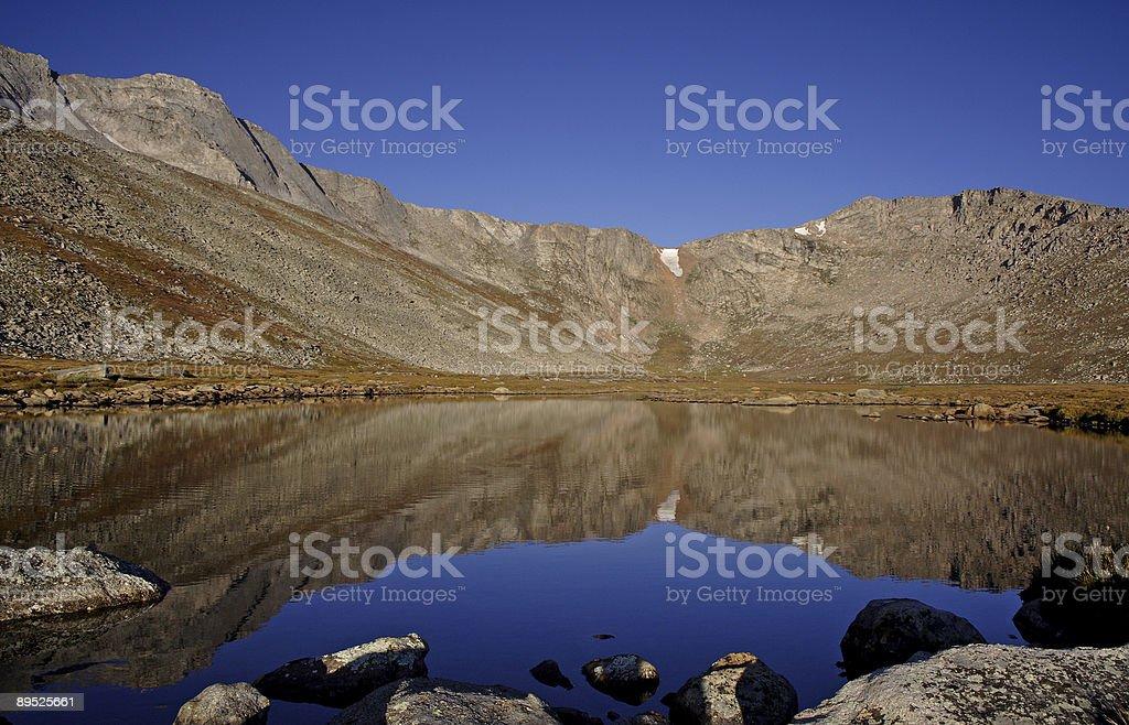 Reflective mountain lake royalty-free stock photo