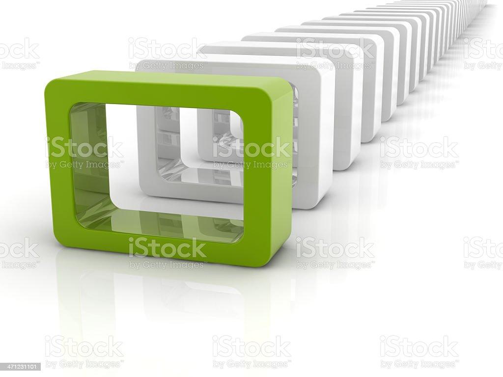 reflective rectangle royalty-free stock photo