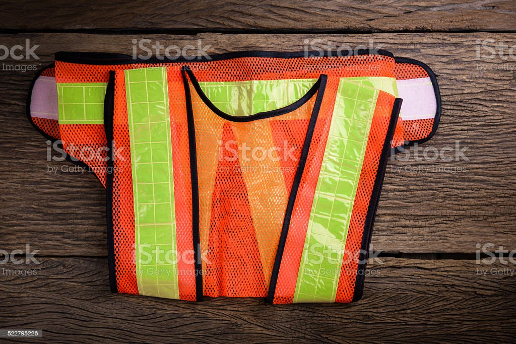 reflective safety vest stock photo