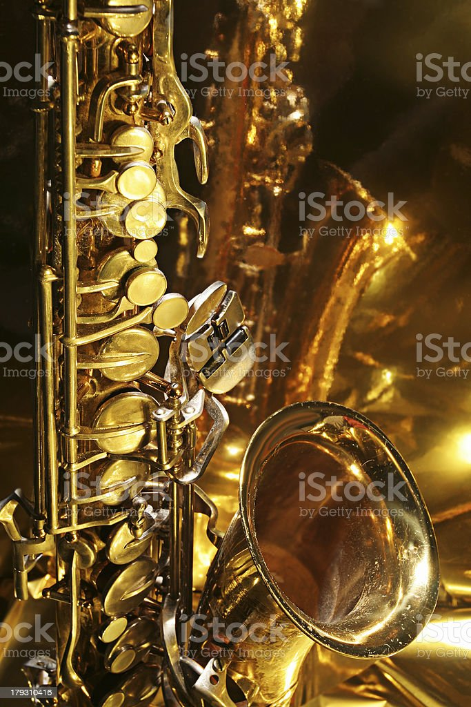 Reflective Sax 3 stock photo