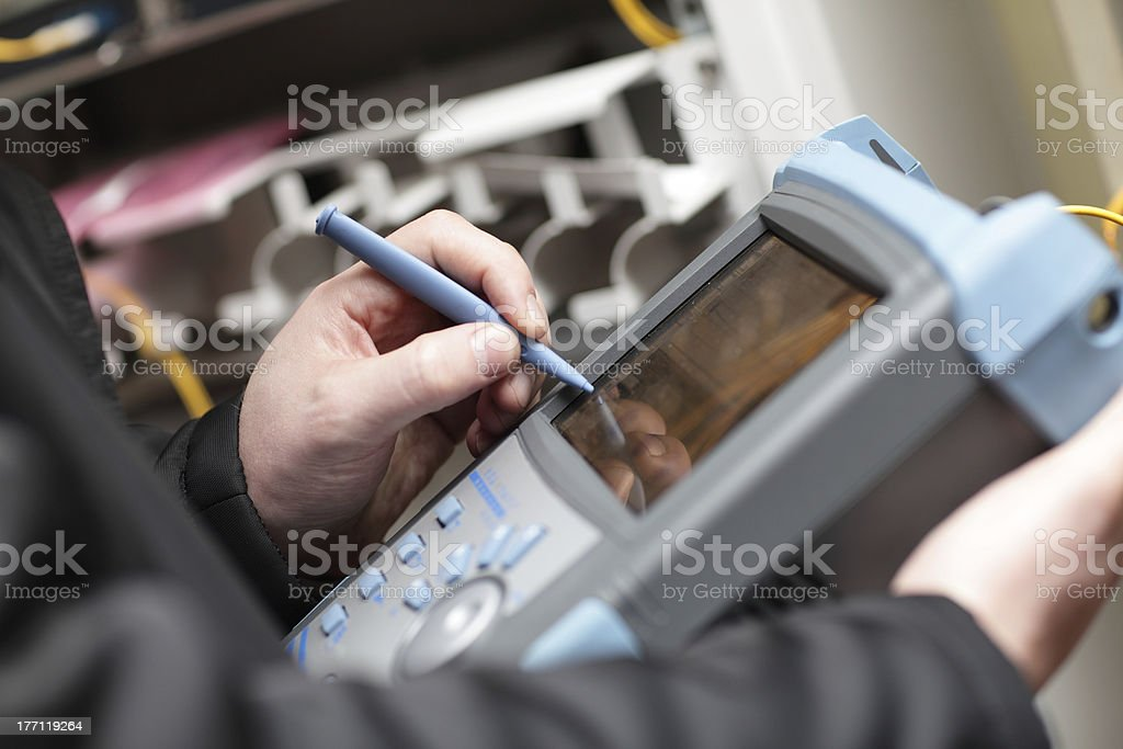 Reflectometer stock photo