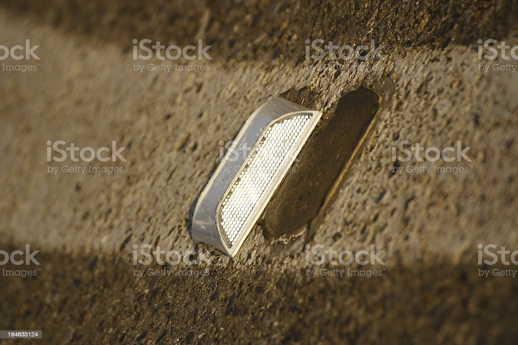 Reflector fasten to the street royalty-free stock photo