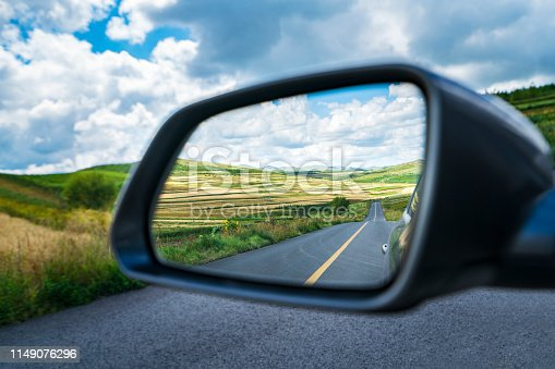 Road in the mirror