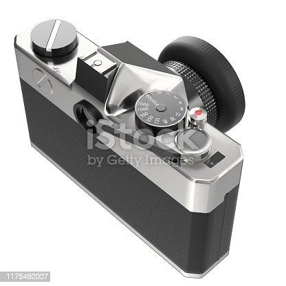 3D rendering illustration of a reflex camera