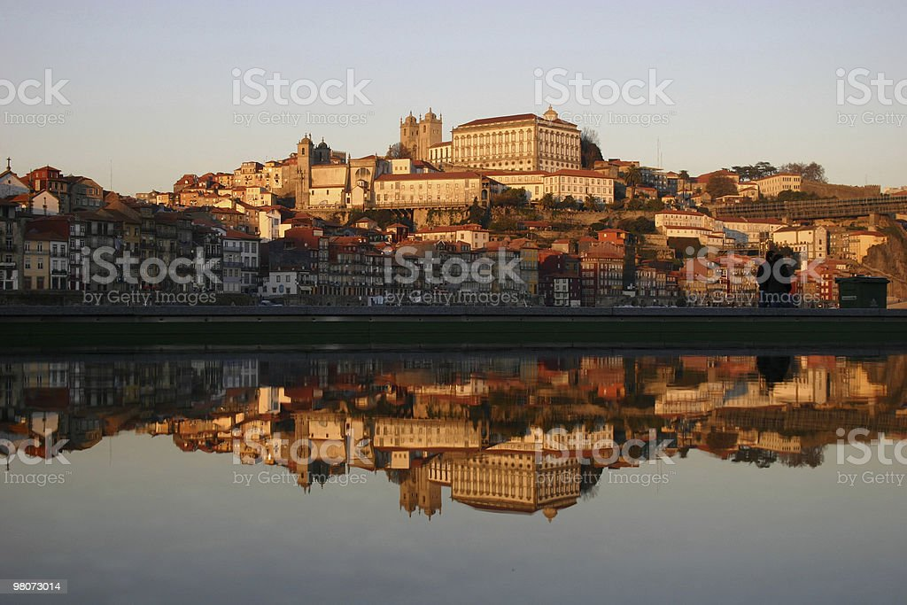 Reflex Cityscape of Porto Town royalty-free stock photo