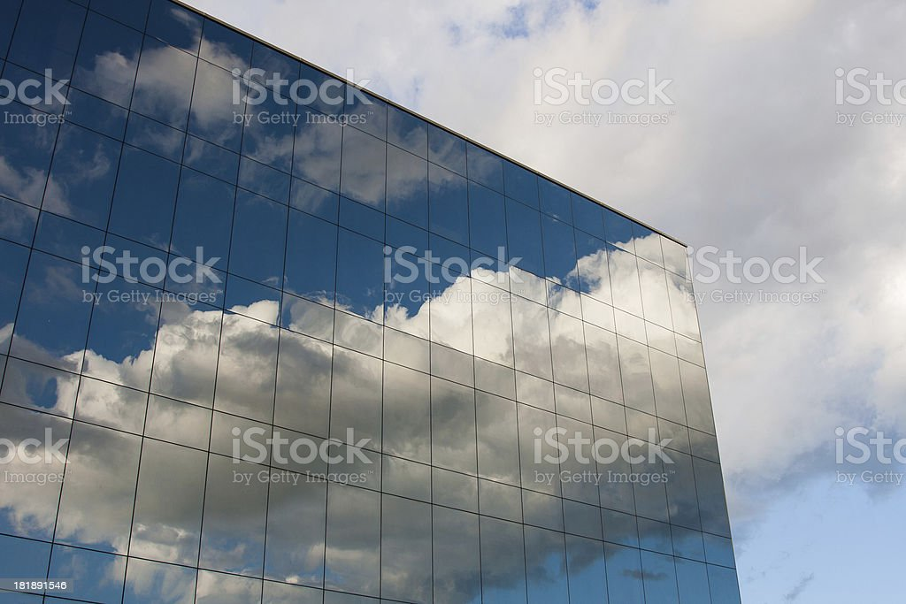 Reflexion in the sky royalty-free stock photo