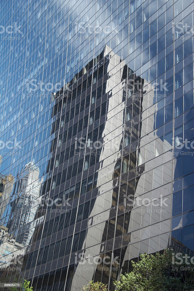 Reflexion of modern office building royalty-free stock photo