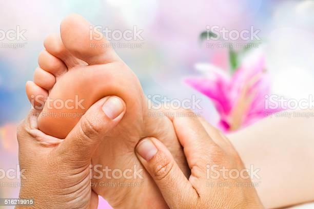 Reflexologist Doing Massage Stock Photo - Download Image Now