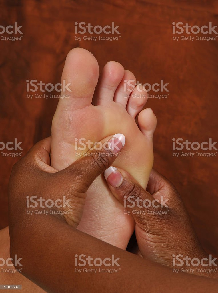 Reflexology Foot Massage at Day Spa royalty-free stock photo