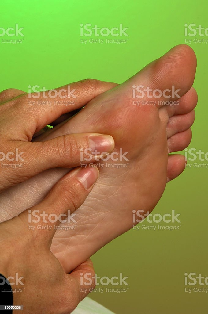 Reflexology Foot Massage royalty-free stock photo