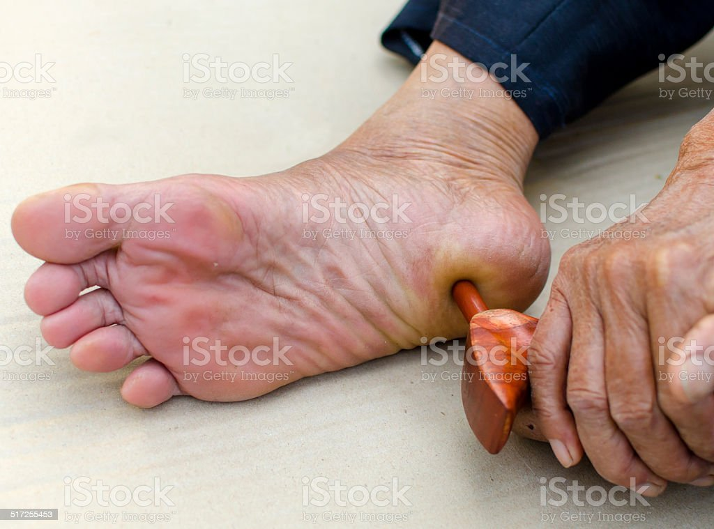 reflexology foot massage, Spa treatment yourself.