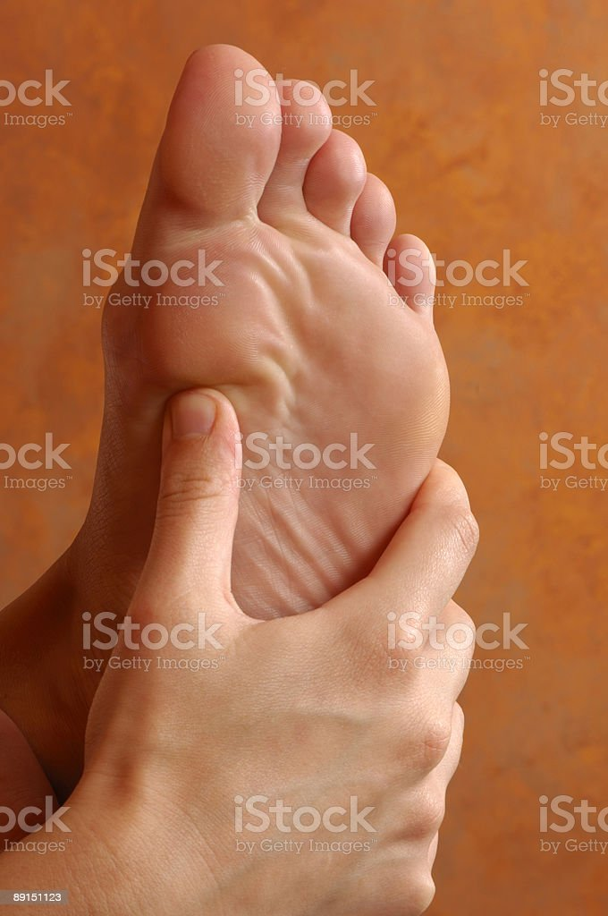 Reflexology Foot Massage Treatment royalty-free stock photo