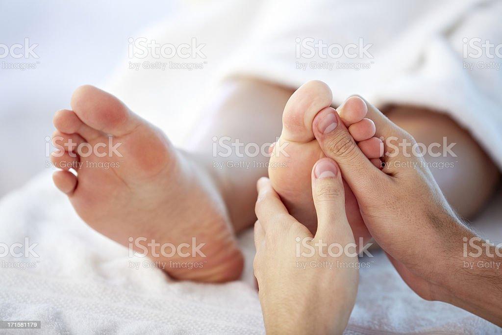 Reflexology Reflexology foot massage Adult Stock Photo