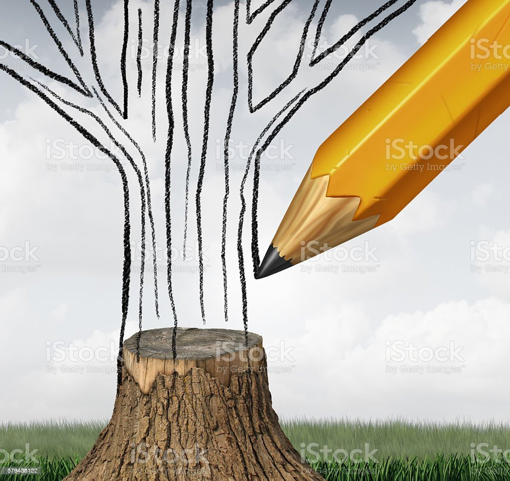 Reforestation And Conservation stock photo