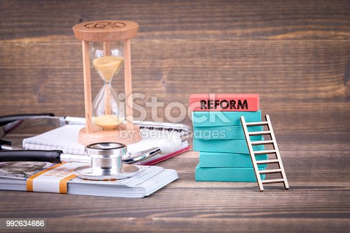 istock Reform, health care and finance concept 992634686
