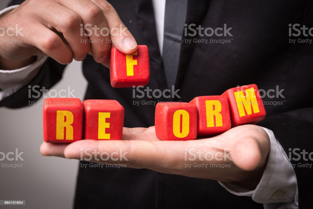 Reform stock photo