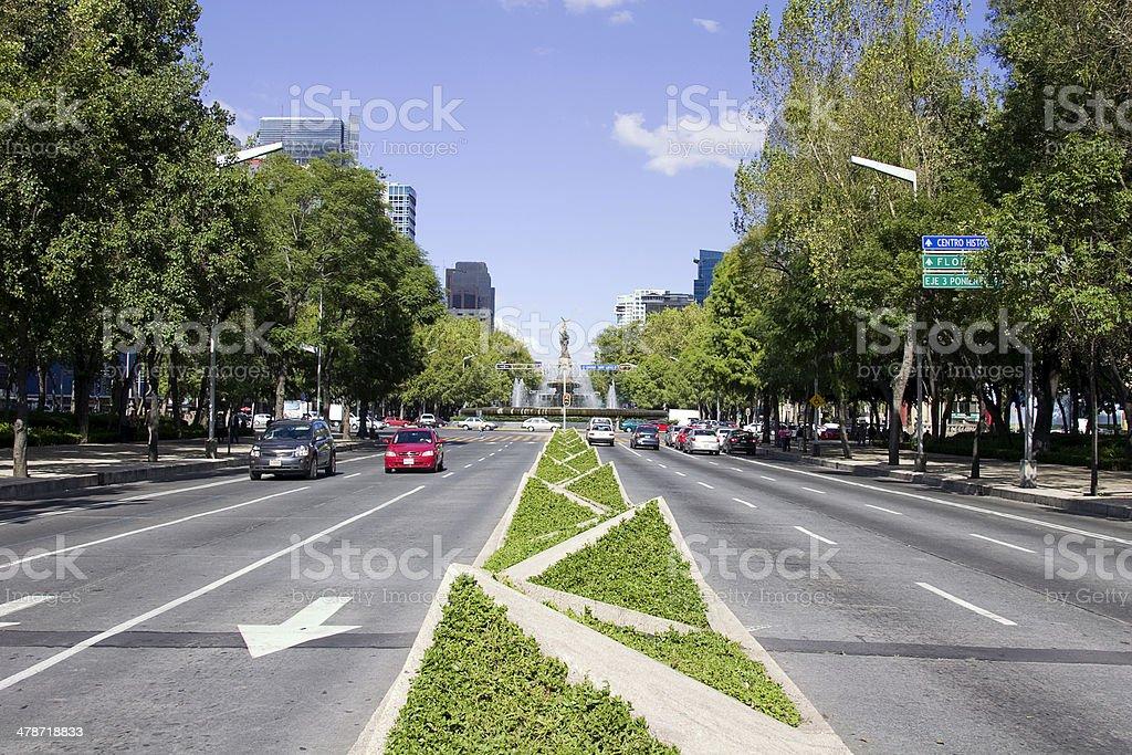 reforma avenue royalty-free stock photo