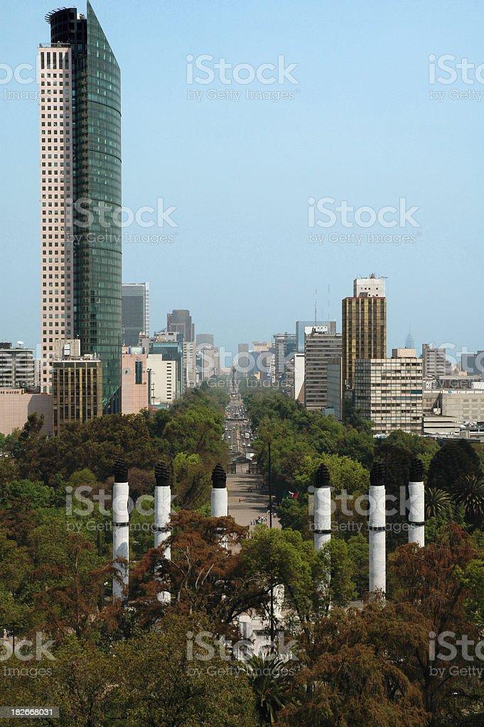 Reforma, Mexico City royalty-free stock photo
