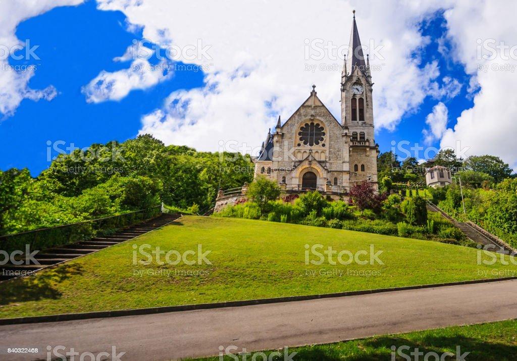 Reformierte Kirche setzen (Eglise Reformee du setzen) in Biel/Bienne, Bern, Schweiz, Europa. – Foto