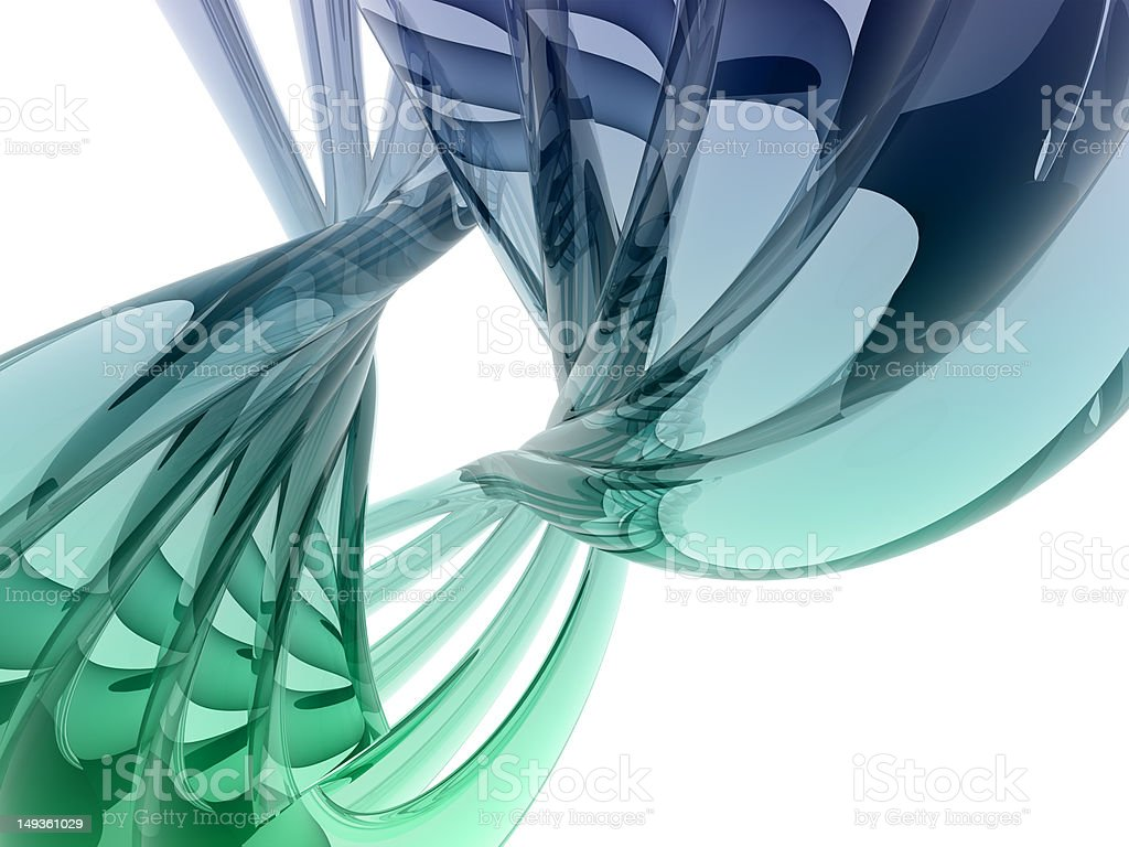 refractive curve shape royalty-free stock photo
