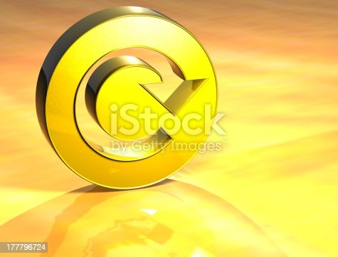 istock 3D Refresh Gold Sign 177796724