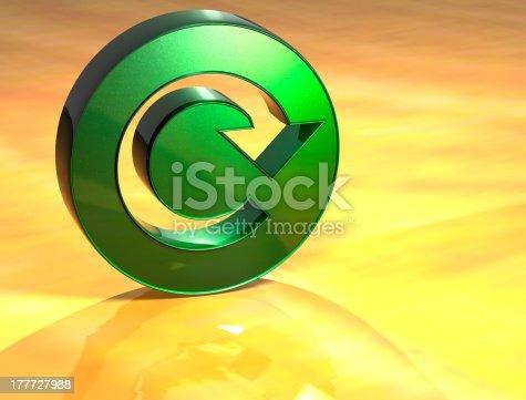 istock 3D Refresh Green Sign 177727988