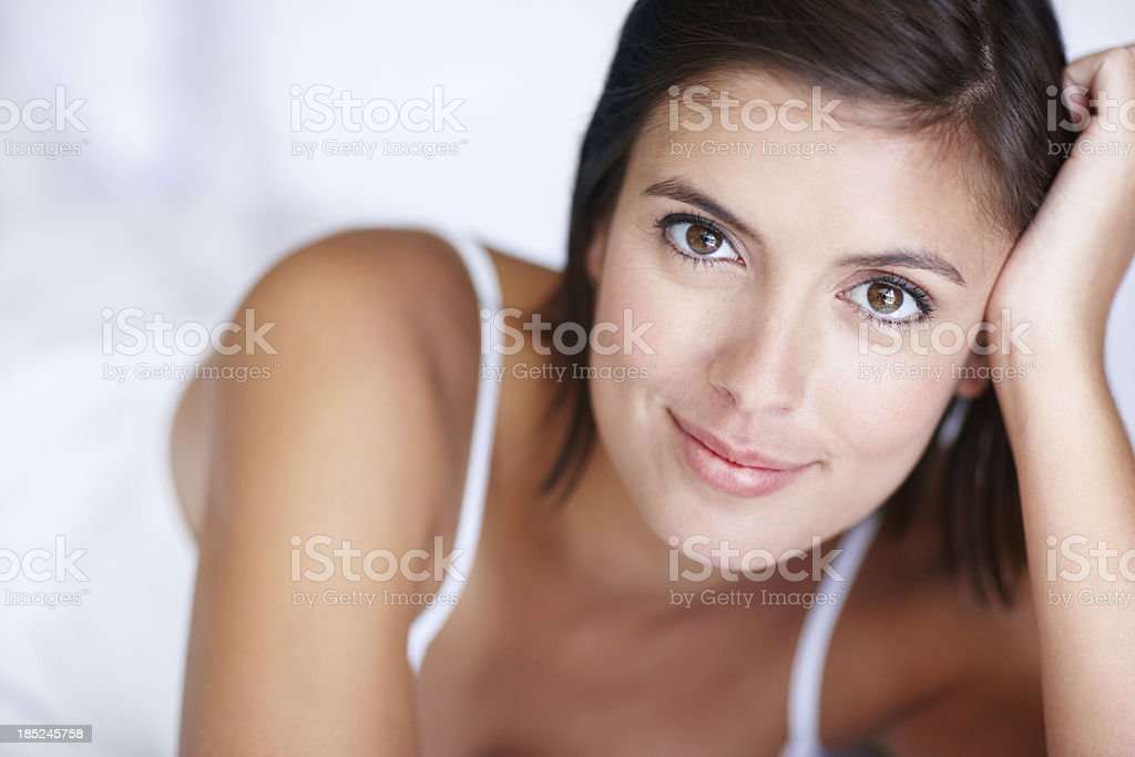 Refreshed and ready for the day royalty-free stock photo