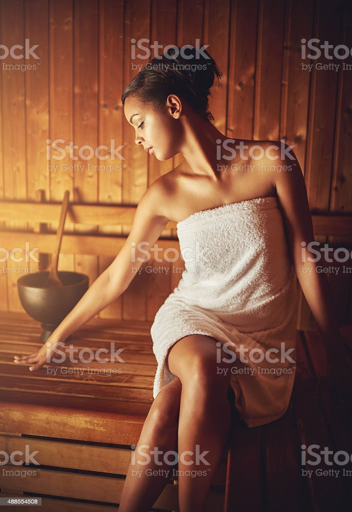 Refreshed and relaxed stock photo