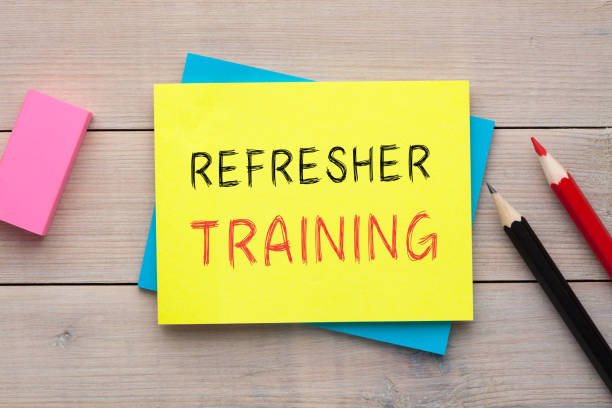 Refresher Training Concept stock photo