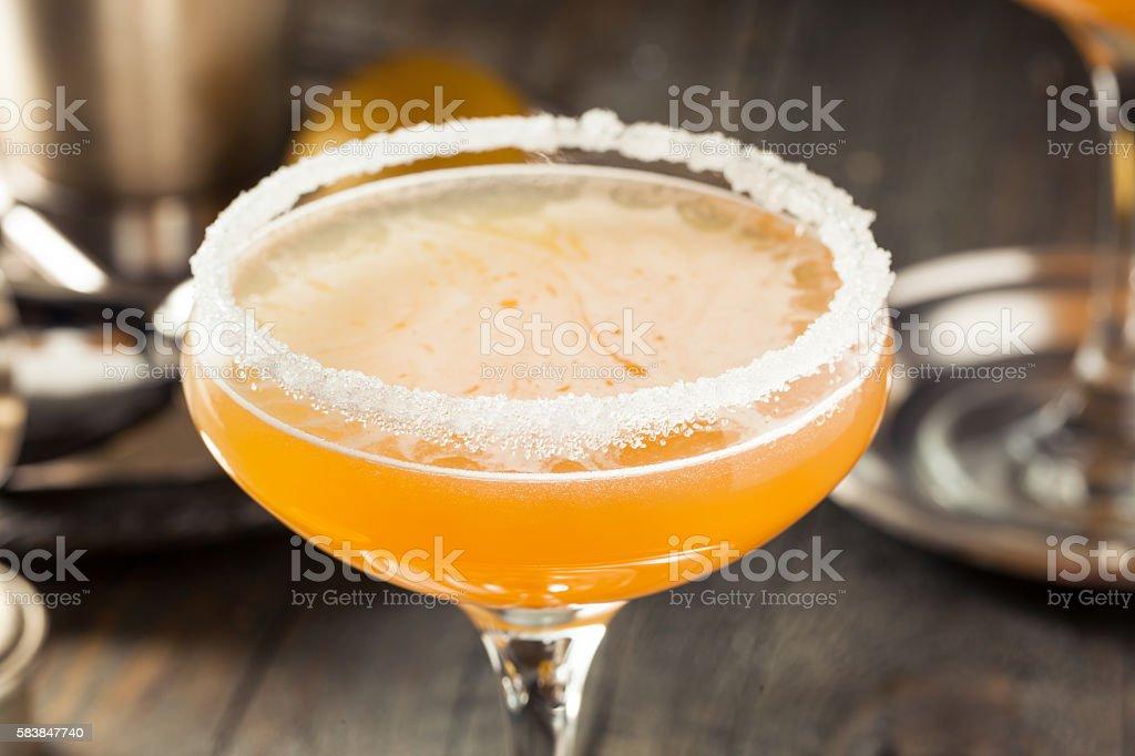 Refreshing Boozy Sidecar Cocktail stock photo