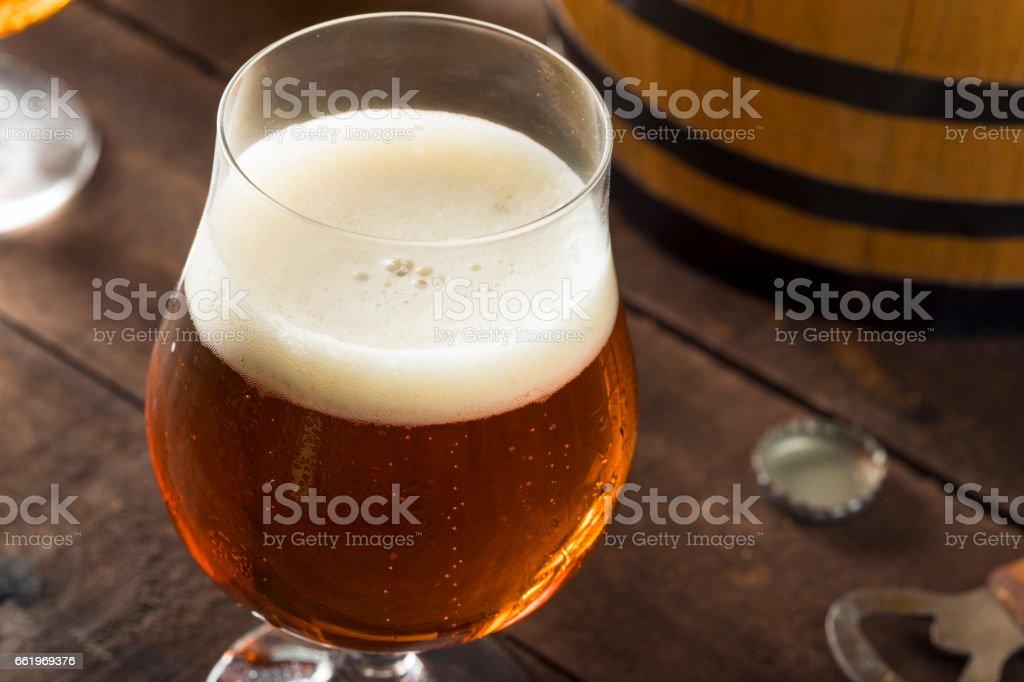 Refreshing Bourbon Barrel Aged Beer royalty-free stock photo