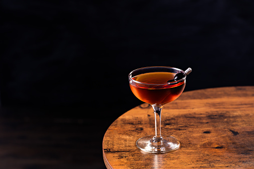 istock Refreshing Bourbon Manhattan Cocktail 1129497537