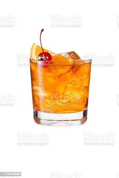Refreshing bourbon old fashioned cocktail on white picture id1129486696?b=1&k=6&m=1129486696&s=612x612&h= zdorjaqwt35wymcifmdmyr dvpd6g5pc cpngzpzng=